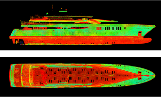 3d laser scanning - hull scanning - yacht